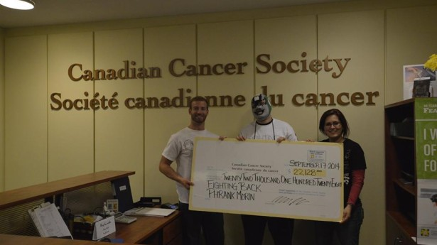 Official donation of over $22 000 to the Canadian Cancer Society!